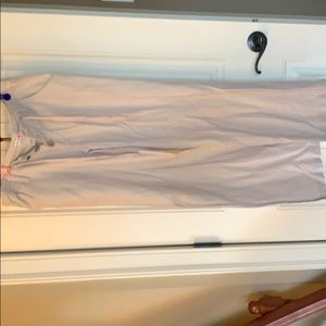 Lightweight linen and cotton beige pants